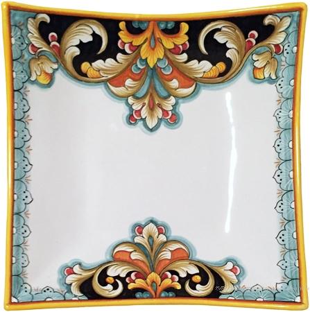 Deruta Elegant Curved Plate - D208
