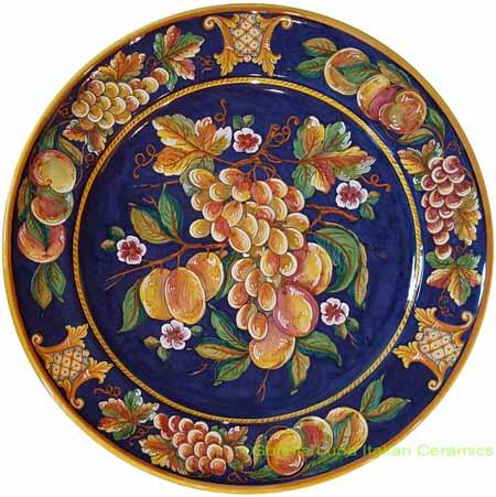 Deruta Italian Cobalt Blue Frutta Plate - 54cm