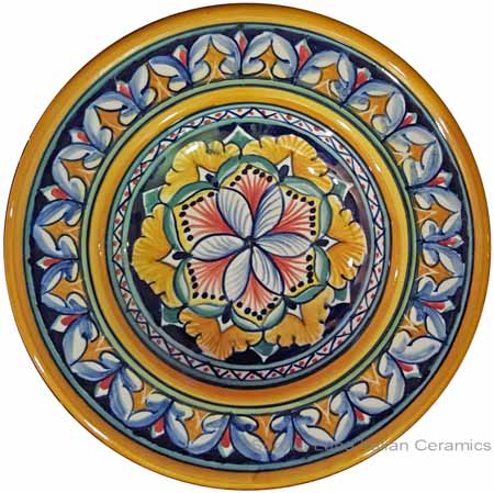 Hanging/Dipping Plate - Blue Flower - 12cm