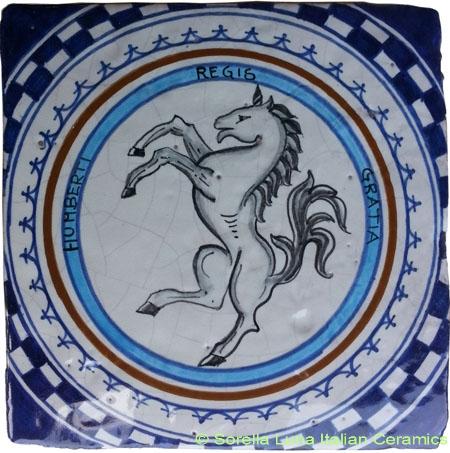 Tile Sienna Unicorn (Leocorno)