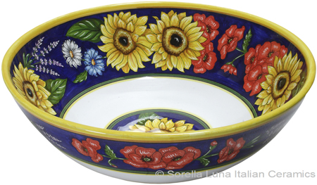 Elegant Flowers Serving Bowl