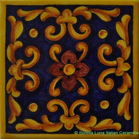 Tile Acanthus Weave Blue