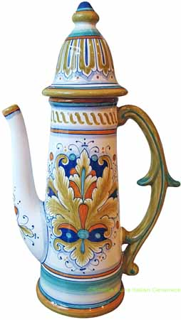 Ceramic Majolica Coffee/Tea Pot D197