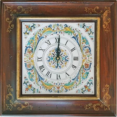 Italian Majolica Clock - Delfini/Ricco Deruta - 40cm
