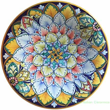 Ceramic Majolica Plate Jubilant