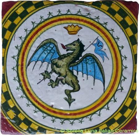 Tile Sienna Dragon (Drago)