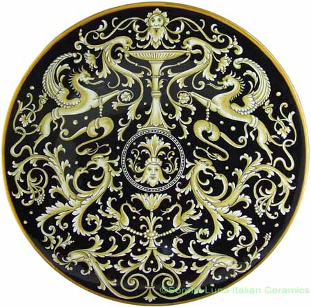Ceramic Majolica Plate - Fountain of Life 53cm
