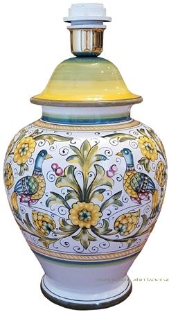 Elegant Ceramic Lamp - Peacock/Lovers - 30cm