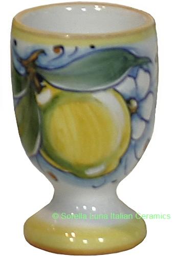 Italian Ceramic Majolica Limoncello Chalice