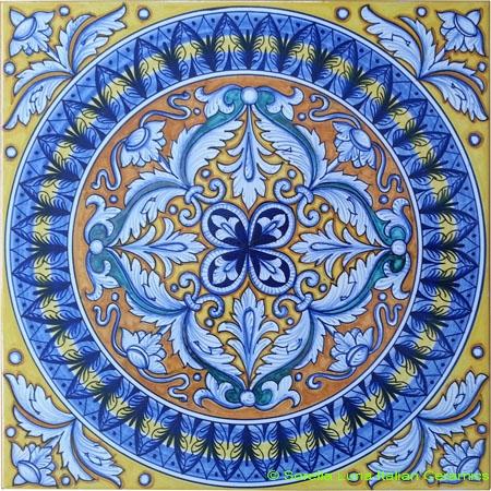 Tile Medieval Acanthus