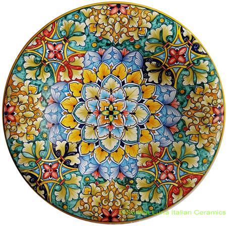 Ceramic Majolica Plate MC 739 30cm