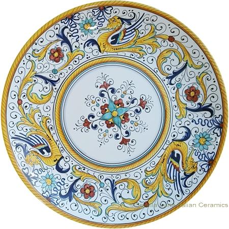 Ceramic Majolica Plate - Raffaellesco 25cm