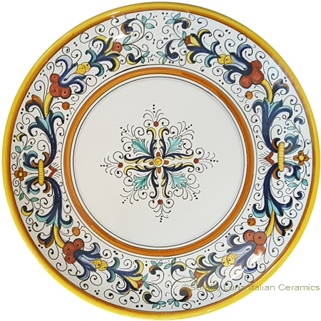 Ceramic Majolica Plate - Ricco Deruta 25cm