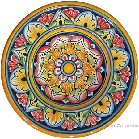 Hanging/Dipping Plate - White Orange Flower - 12cm