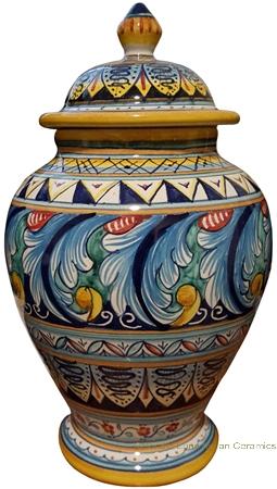 Italian Ceramic Centerpiece Urn - Ricco Vario