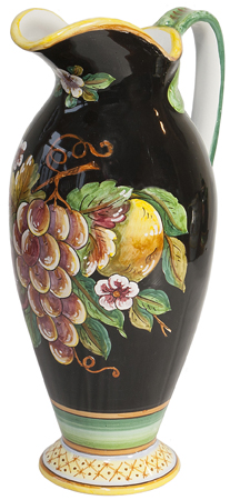 Ceramic Pitcher - Frutta Fonda Nero