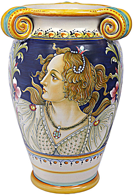 Italian Ceramic Vase - Female Botticelli