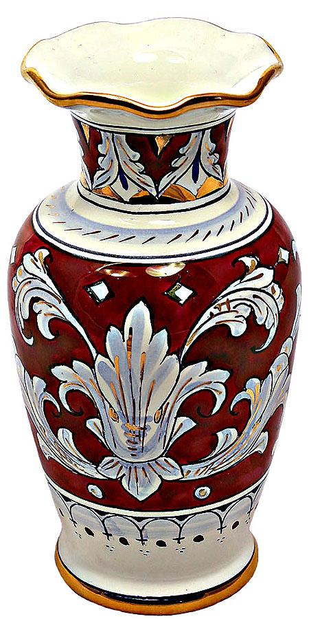Gold Leaf Deruta Italian Ceramic Vase