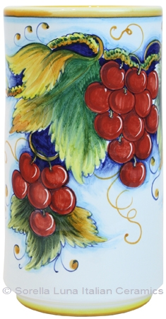 Deruta Italian Ceramic Wine Chiller - Red Grapes