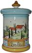 Ceramic Majolica Salt Jar Tuscan Country Poppies