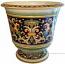Italian Floor/Bell Planter Vase - Ornato Black 58cm
