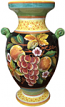 Deruta Furniture/Decorative Vase - Frutta Fonda Nero 35 cm