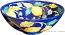 Majolica Serving Bowl - Blue Lemon -25cm