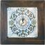 Italian Majolica Clock - Ricco Deruta - 29cm