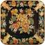 Italian Square Plate - Frutta Fondo Nero - 50cm