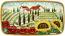 Ceramic Majolica Plate HZ Tuscany Poppy Country 4424