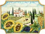 Ceramic Majolica Plate HZ Tuscany Grape Country 4131