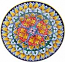 Ceramic Majolica Plate GEO Red Yellow Green 739 20cm