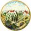 Ceramic Majolica Plate Tuscany Grape Country 42cm