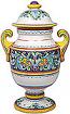 Italian Ceramic Centerpiece Urn - Deruta Ricco/Acanthus