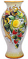 Deruta Italian Ceramic Vase - Lemons and Strawberries