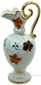 Ceramic Amfora Pitcher Gold Autumn Leaf