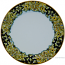 Deruta Italian Charger Plate - Acanthus Black/Yellow