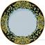 Deruta Italian Salad Plate - Acanthus Black/Yellow