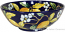 Ceramic Majolica Serving Bowl Blue Lemon