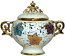 Covered Bowl/Urn - Autumn Leaves Gold Handled Small