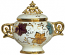 Covered Bowl/Urn - Autumn Leaves Gold Handled Petit