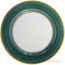 Italian Charger Plate - Yellow Border Solid Green