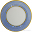 Italian Charger Plate - Yellow Border Solid Light Blue