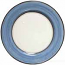 Italian Charger Plate - Black Border Solid Light Blue - Platino