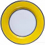 Italian Charger Plate - Black Border Solid Yellow - Giallo