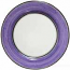 Italian Charger Plate - Black Border Solid Purple Viola