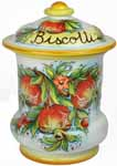Biscotti Cookie Jar - Pomegrante 28cm