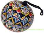 Ceramic Majolica Christmas Ornament Deruta Ricco 2 6cm