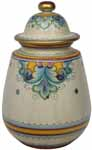 Ceramic Majolica Jar Covered Deruta Ricco Oro Gold 32cm