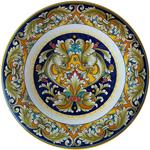 Ceramic Majolica Delfini Plate 35cm